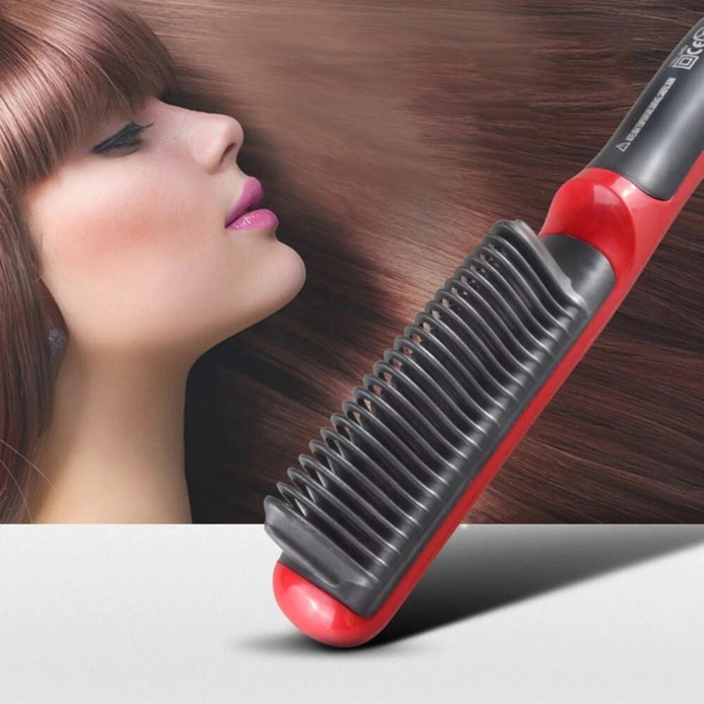 Men Electric Heating Comb Hair Straightener