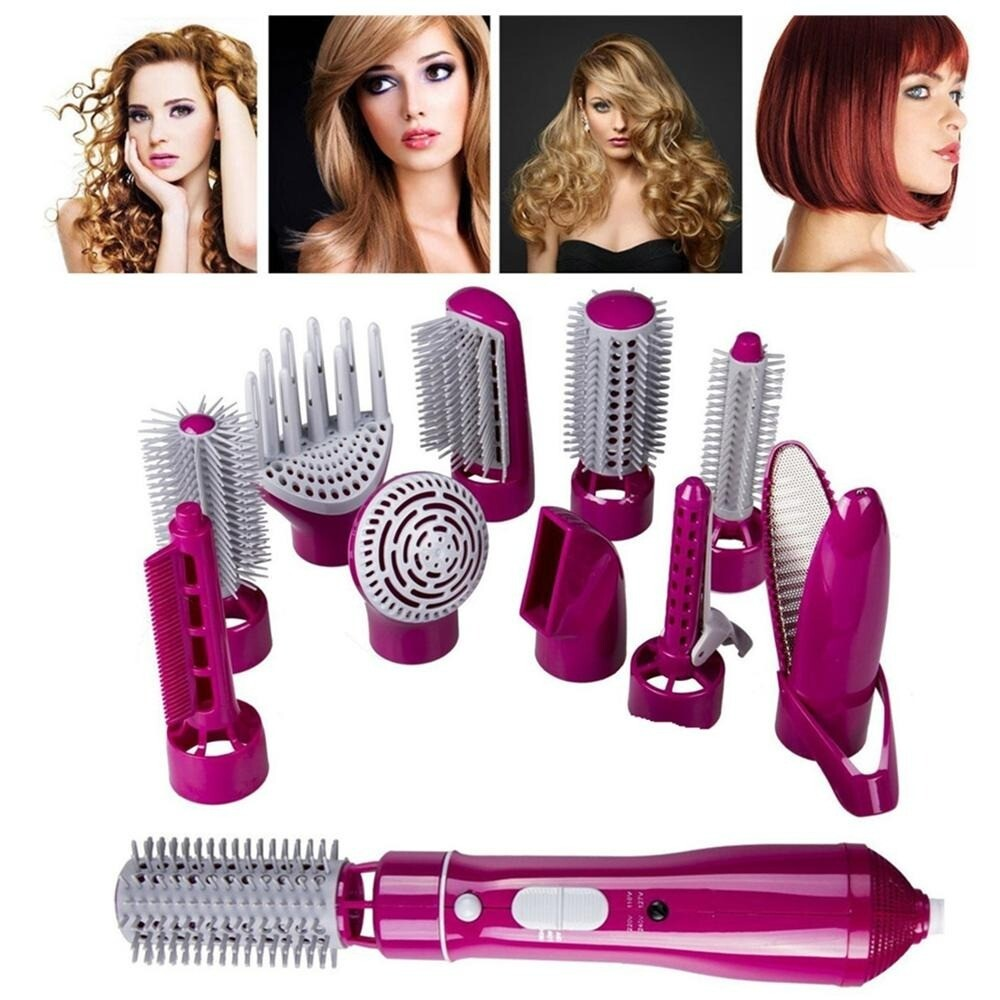 Multifunctional 10 in 1 One Step Hot Air Comb Hair Dryer
