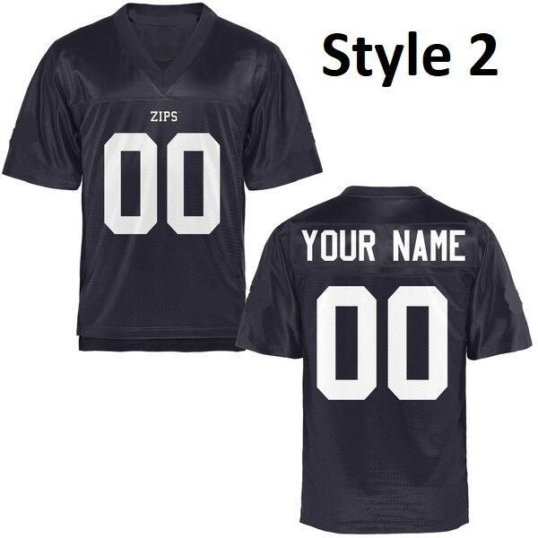 Akron Zips Football Customizable College Jersey Style 2