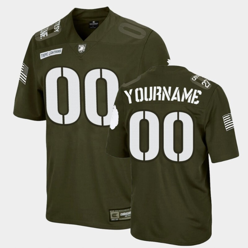 Army Black Knights Custom Name and Number Green Replica Rivalry Football Jersey