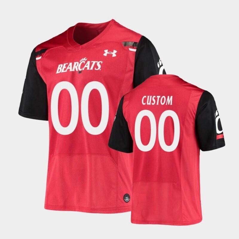 Cincinnati Bearcats Custom Name and Number Red Under Armour Replica Football Jersey