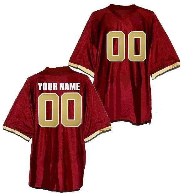 Boston College Eagles Style Customizable Football Jersey Style 1
