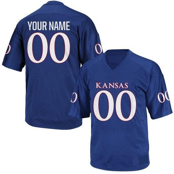 Kansas Jayhawks Customizable College Football Jersey