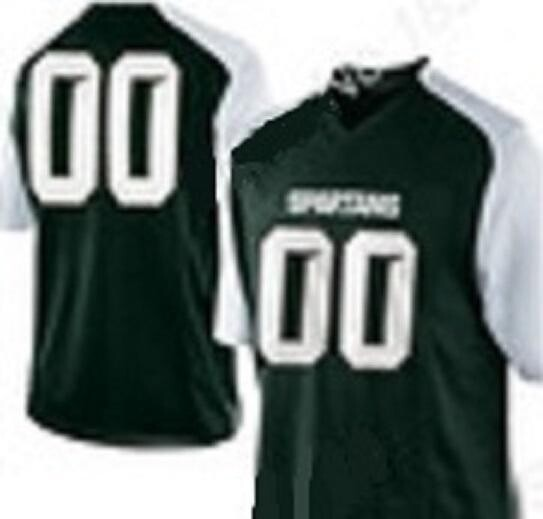 Michigan State Spartans Style Customizable Football Jersey Style 1