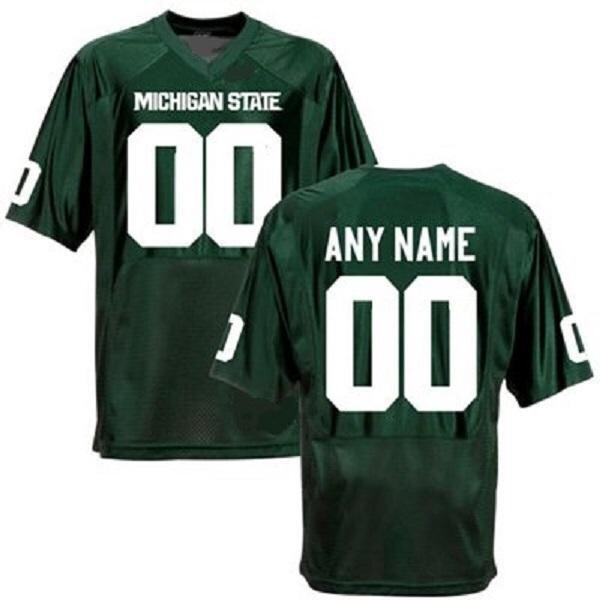 Michigan State Spartans Style Customizable Football Jersey Style 3