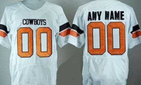 Oklahoma State Cowboys Customizable Football Jersey Style 2