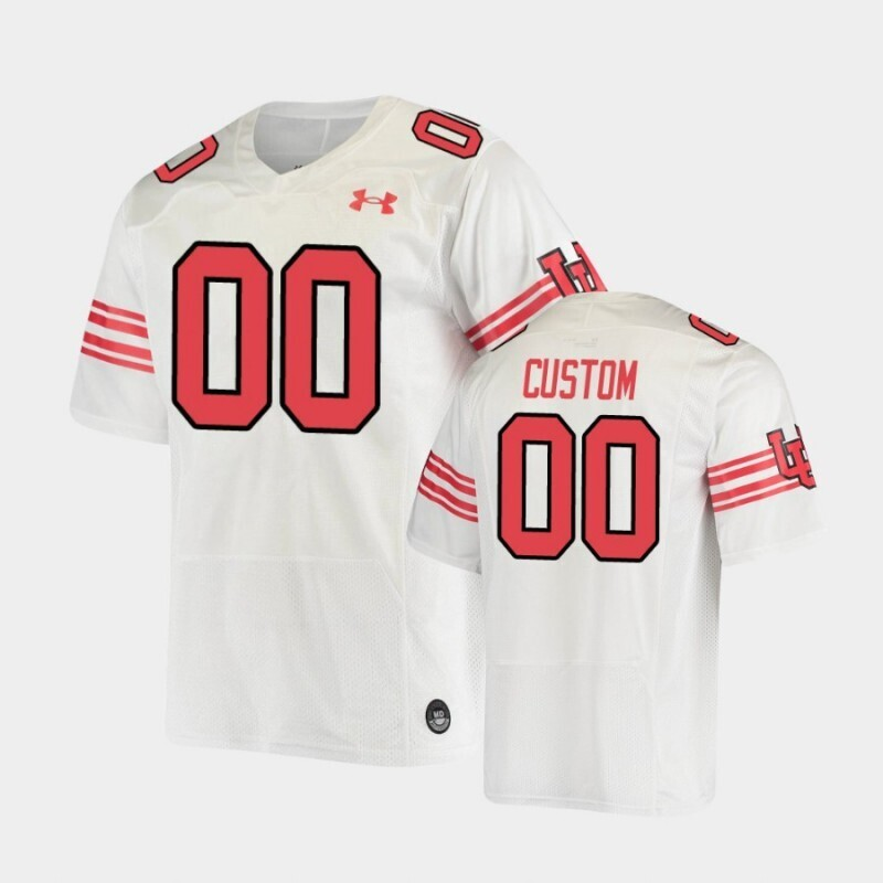 Custom Name and Number Utah Utes Under Armour White Throwback Replica Jersey