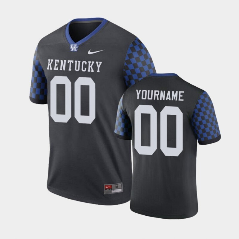 Kentucky Wildcats Custom Name and Number Black Legend Football Performance Jersey
