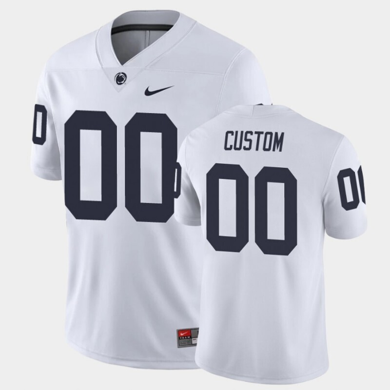 Penn State Nittany Lions Custom Name and Number White College Football Game Jersey