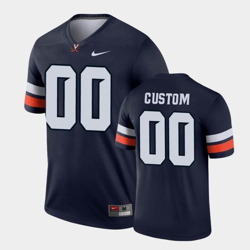 Virginia Cavaliers Custom Name and Number Navy Legend Football Jersey