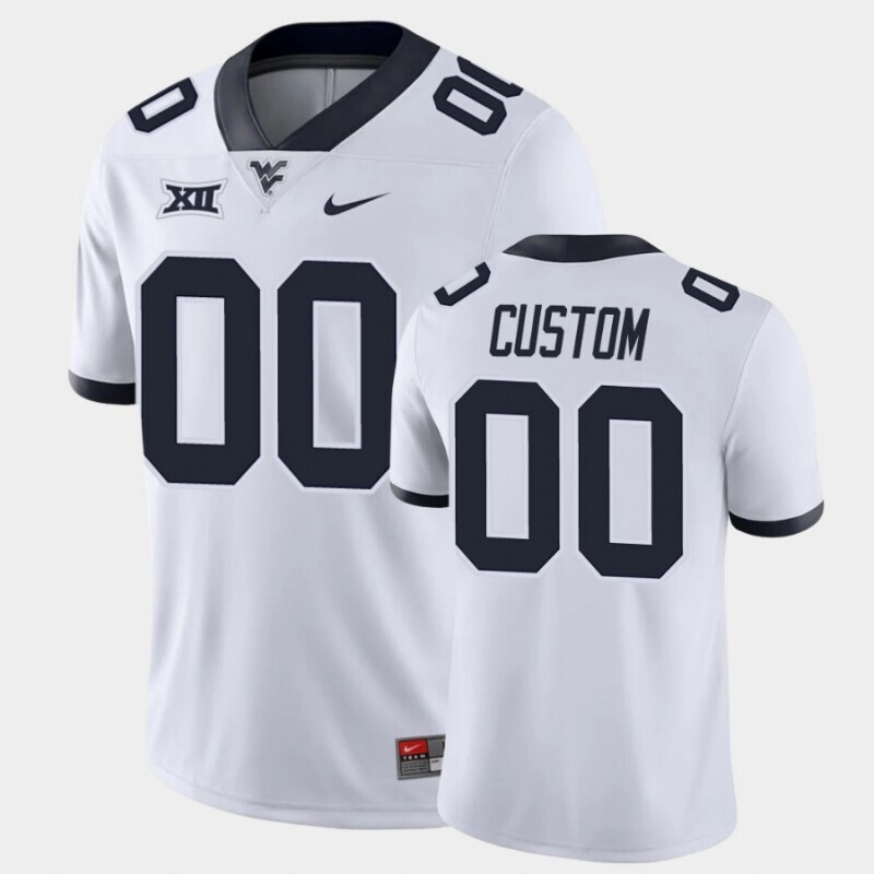West Virginia Mountaineers Custom Name and Number White Game College Football Jersey
