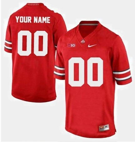 Ohio State Buckeyes Custom Name and Number Football Jersey Red Game