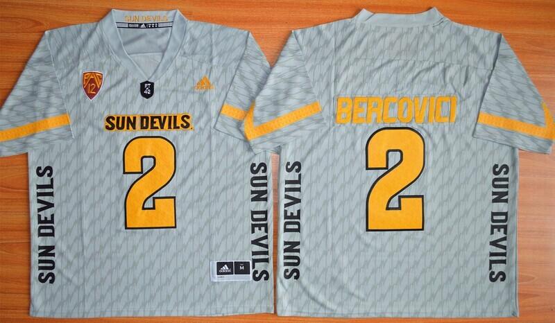 Arizona State Sun Devils #2 Mike Bercovici Jersey Gray Football NCAA