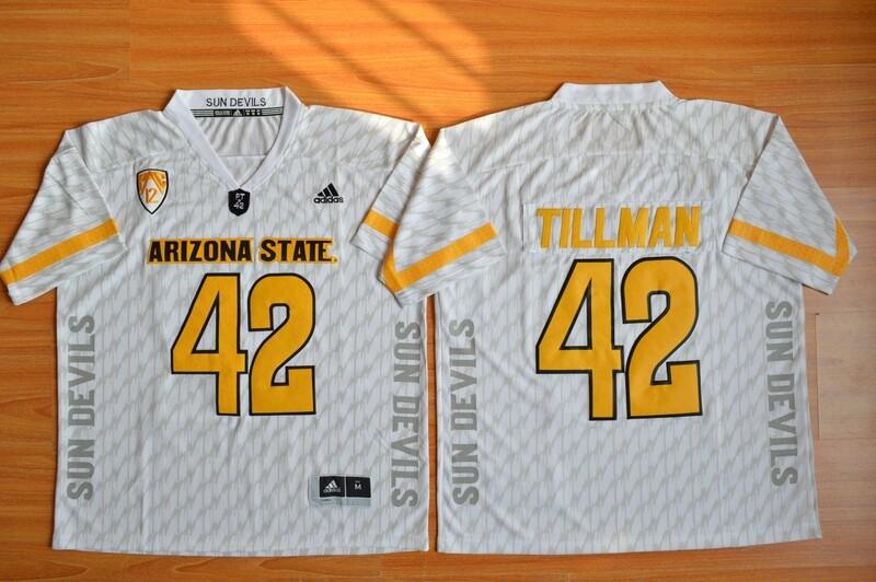 Arizona State Sun Devils #42 Pat Tillman Jersey White College Football White