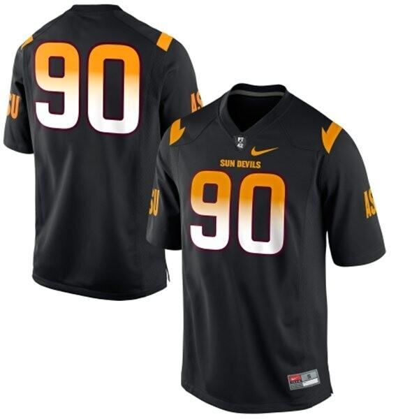 Arizona State Sun Devils #90 Will Sutton Jersey White College Football Black