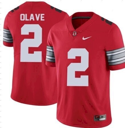 Ohio State #2 Chris Olave Jersey College Football Jersey Red