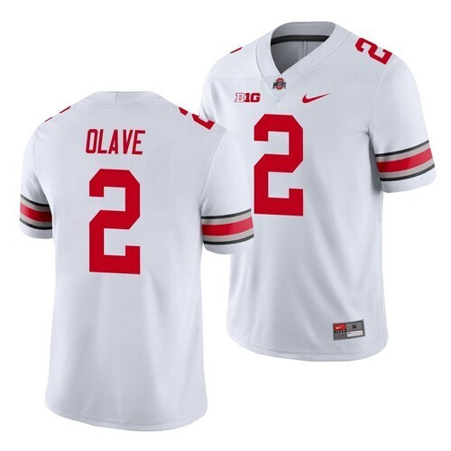 Ohio State #2 Chris Olave Jersey College Football Jersey White Stitched