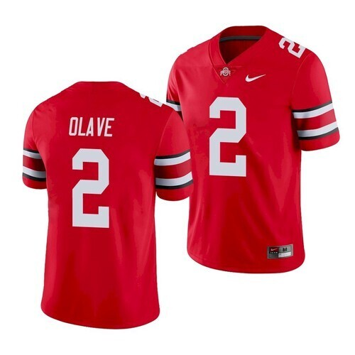Ohio State #2 Chris Olave Jersey College Football Jersey Red Stitched