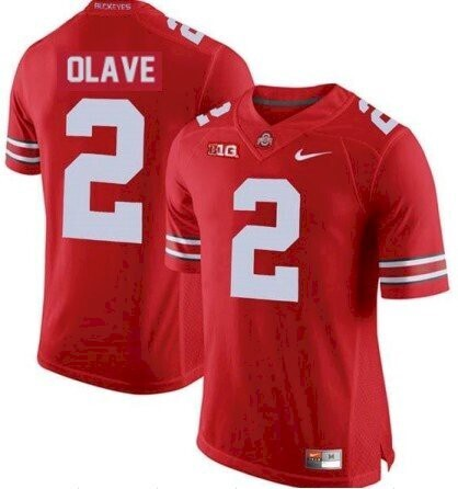 Ohio State #2 Chris Olave Jersey NCAA College Football Jersey Red Stitched