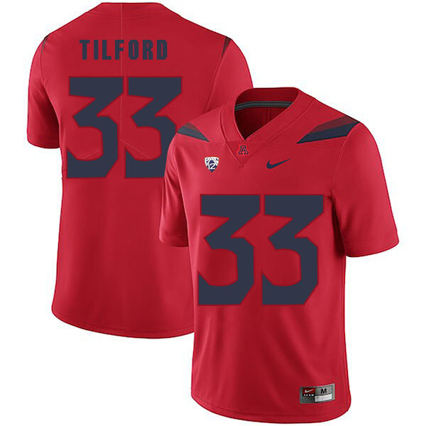 Arizona Wildcats #33 Nathan Tilford Jersey Red College Football