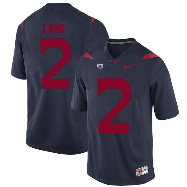 Arizona Wildcats #2 K'Hari Lane Jersey Navy Blue College Football