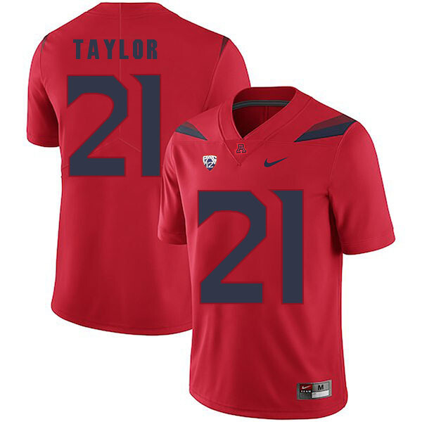 Arizona Wildcats #21 JJ Taylor Jersey Red College Football