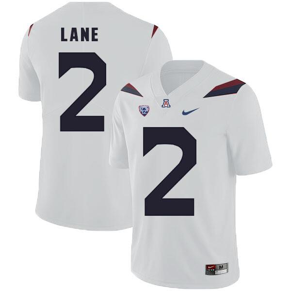 Arizona Wildcats #2 K'Hari Lane Jersey White College Football