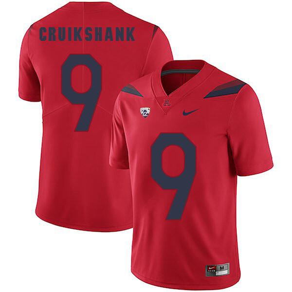 Arizona Wildcats #9 Dane Cruikshank Jersey Red College Football