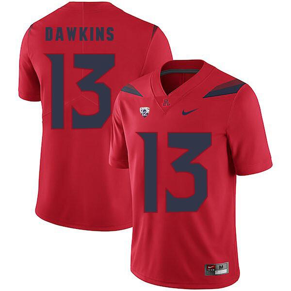 Arizona Wildcats #13 Brandon Dawkins Jersey Red College Football