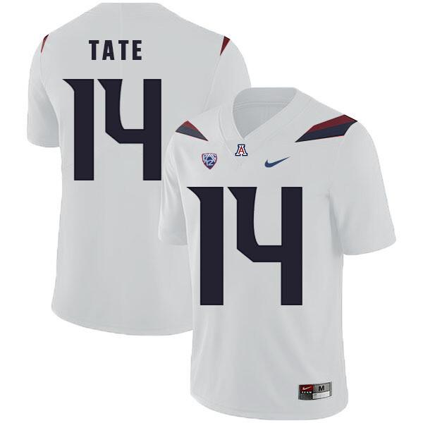Arizona Wildcats #14 Khalil Tate Jersey White College Football