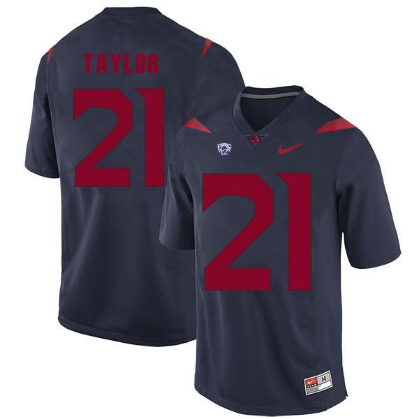 Arizona Wildcats #21 JJ Taylor Jersey Navy Blue College Football