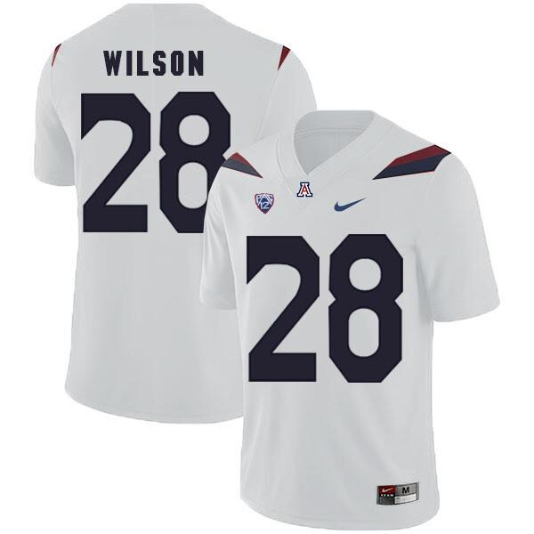 Arizona Wildcats #28 Nick Wilson Jersey White College Football