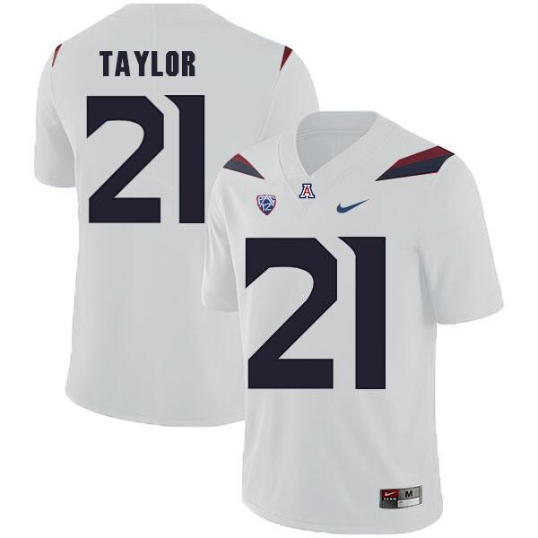 Arizona Wildcats #21 JJ Taylor Jersey White College Football