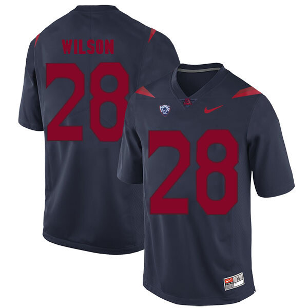 Arizona Wildcats #28 Nick Wilson Jersey Navy Blue College Football