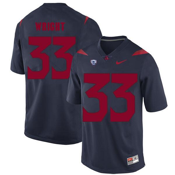 Arizona Wildcats #33 Scooby Wright Jersey Navy Blue College Football