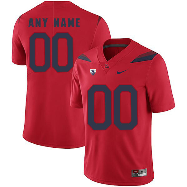 Arizona Wildcats #00 Custom Name and Number Jersey Red College Football