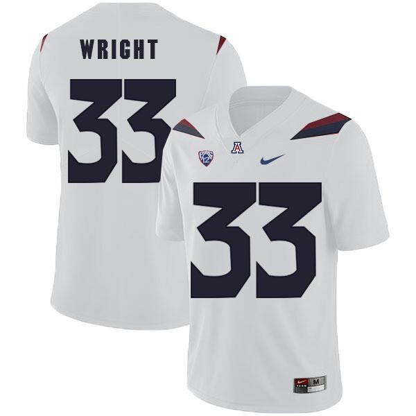 Arizona Wildcats #33 Scooby Wright Jersey White College Football