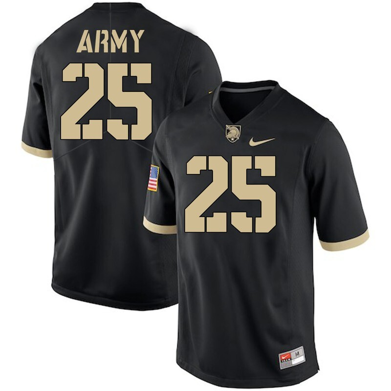 Army Black Knights #25 Connor Slomka Jersey Black College Football