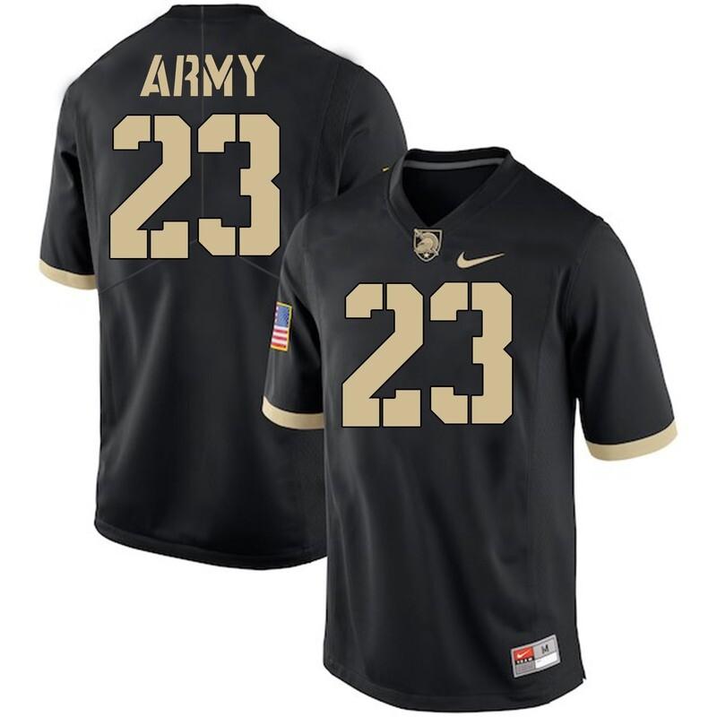 Army Black Knights #23 Elijah Riley Jersey Black College Football
