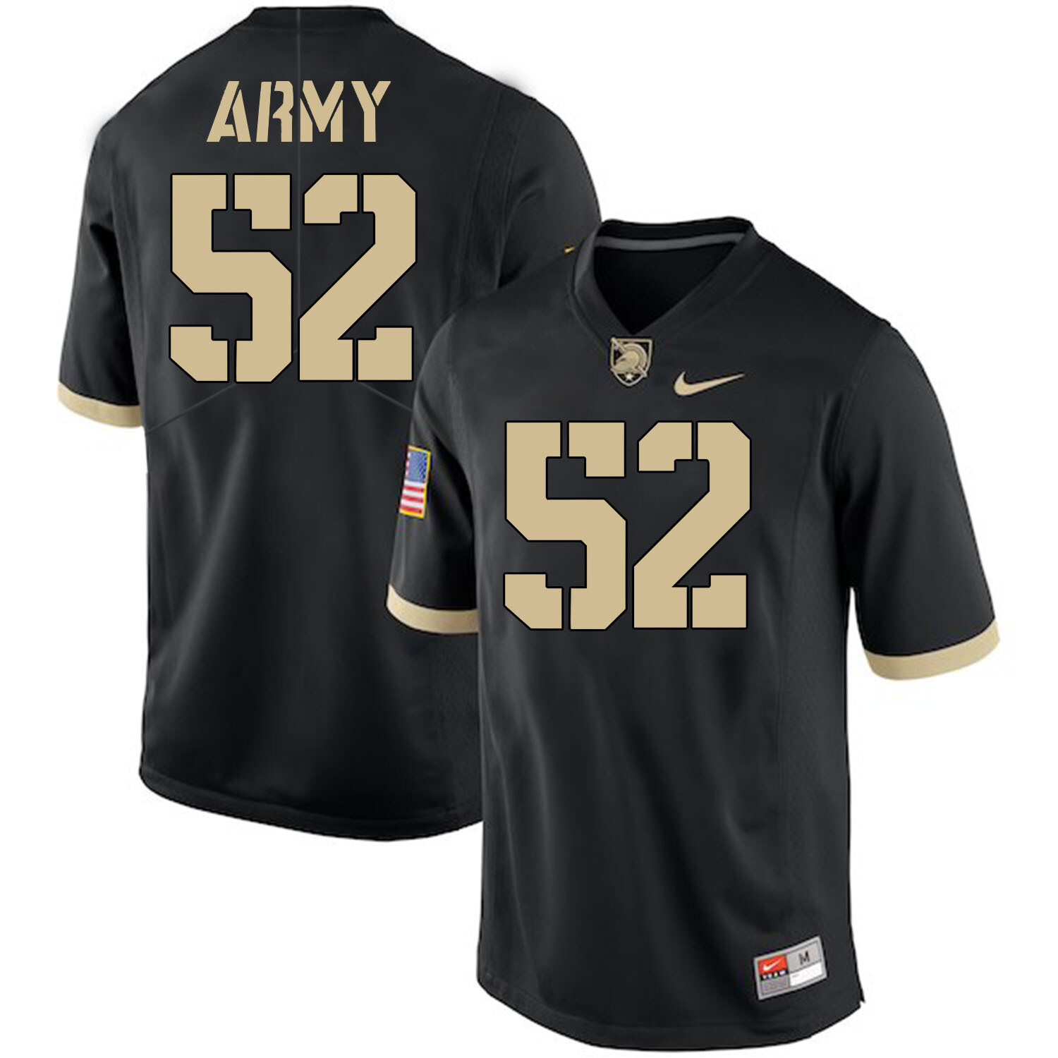 Army Black Knights #52 Spencer Welton Jersey Black College Football