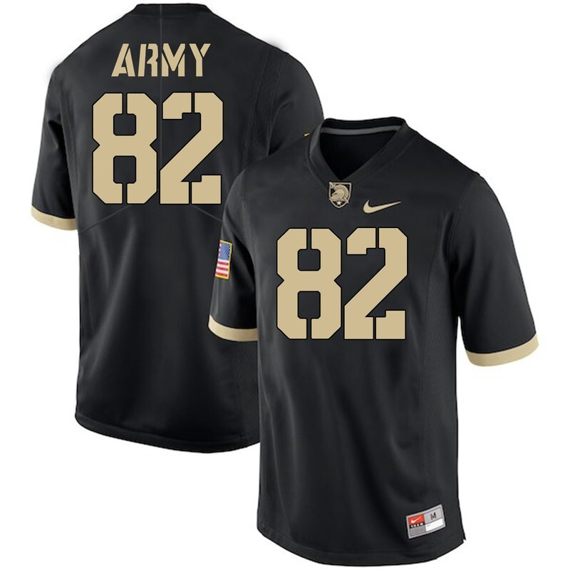 Army Black Knights #82 Alejandro Villanueva Jersey Black College Football