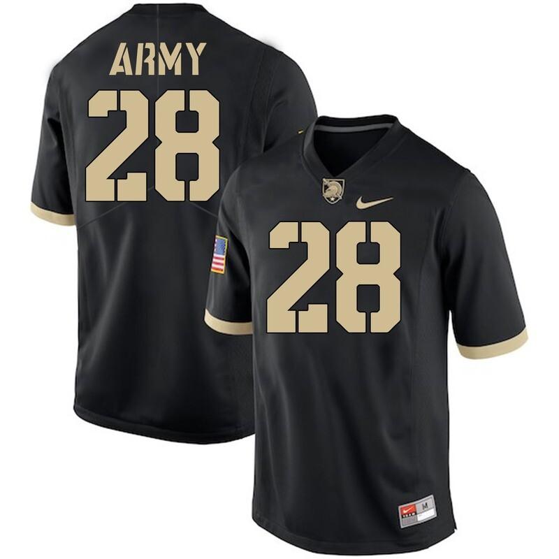 Army Black Knights #28 Nick Schrage Jersey Black College Football