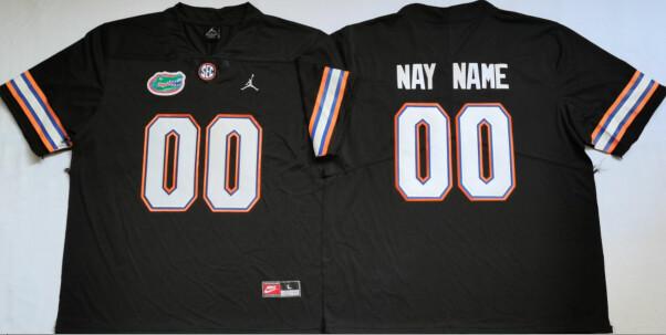 Florida Gators Custom Name and Number College Football Jersey Black