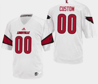 Louisville Cardinals Custom Name and Number Football Jersey White