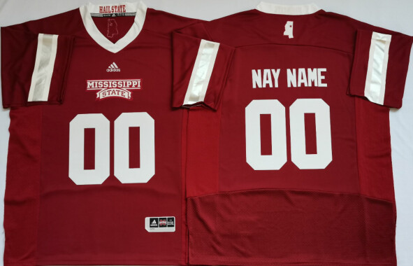 Mississippi State Bulldogs Custom Name and Number Football Jersey Red