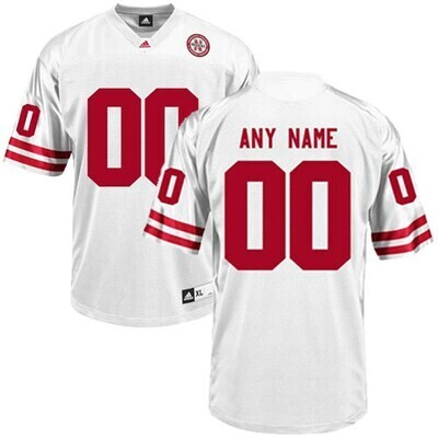 Nebraska Huskers Custom Name and Number College Football Jersey White