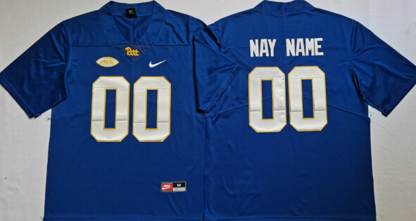 Pittsburgh Panthers Custom Name Number College Football Jersey Blue