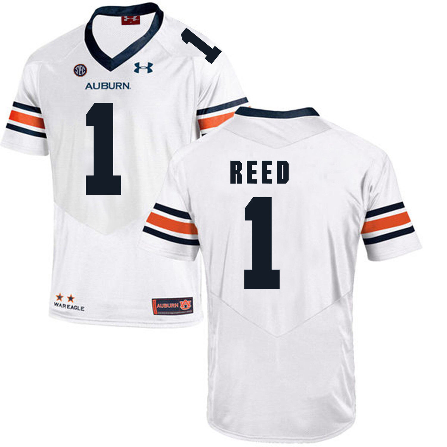 Auburn Tigers #1 Trovon Reed Jersey College Football White