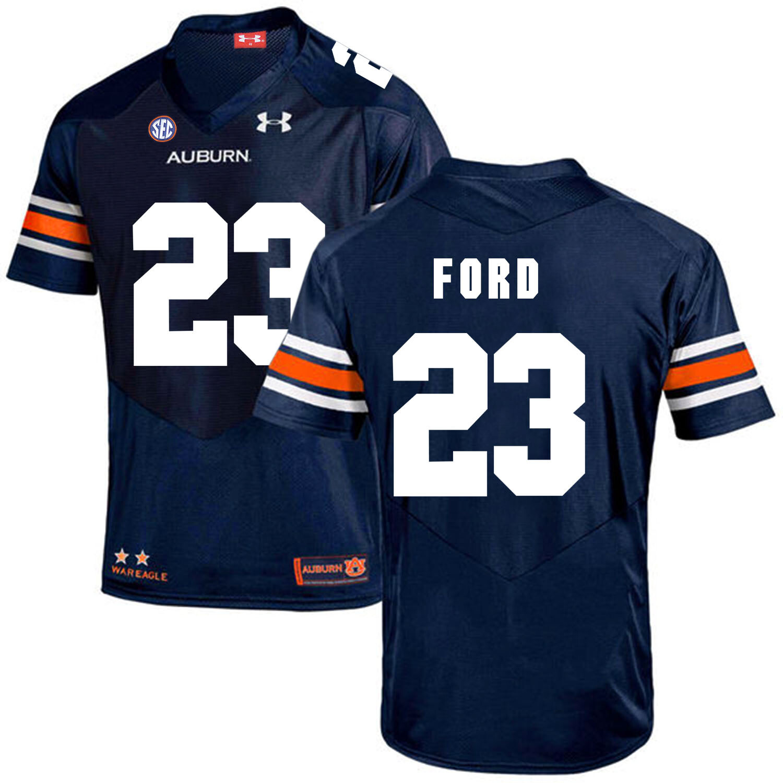 Auburn Tigers Under Armour #23 Rudy Ford Football Jersey Dark Blue