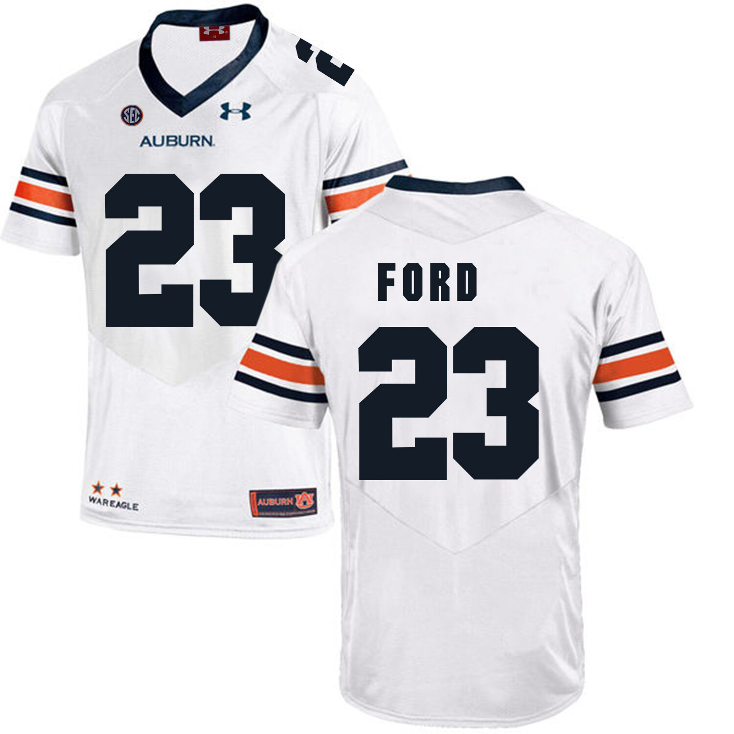 Auburn Tigers Under Armour #23 Rudy Ford Football Jersey White